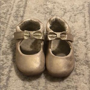 Baby Girl size 4 gold shoes